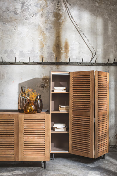 close-up image of a sideboard by Pilma's furniture brand, PLM Design.