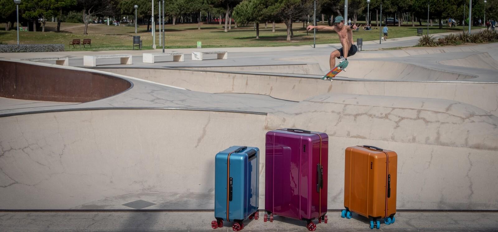 imagen de una maleta de cabina de Floyd, que vendemos en Pilma Travel como distribuidor de  maletas de Floyd en España