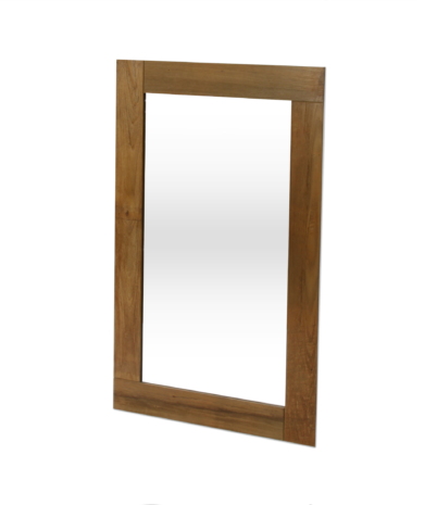 Square model solid teak mirror